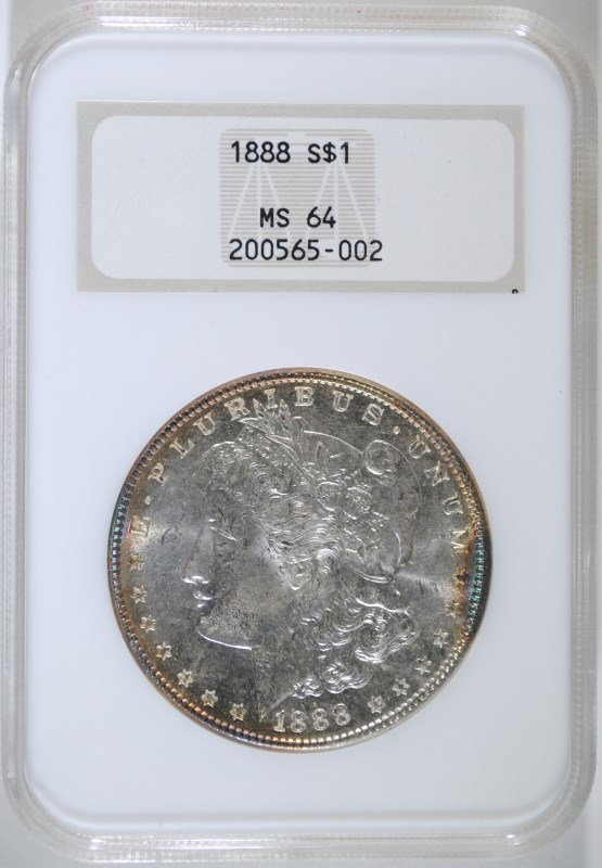 1888 MORGAN DOLLAR NGC MS-64