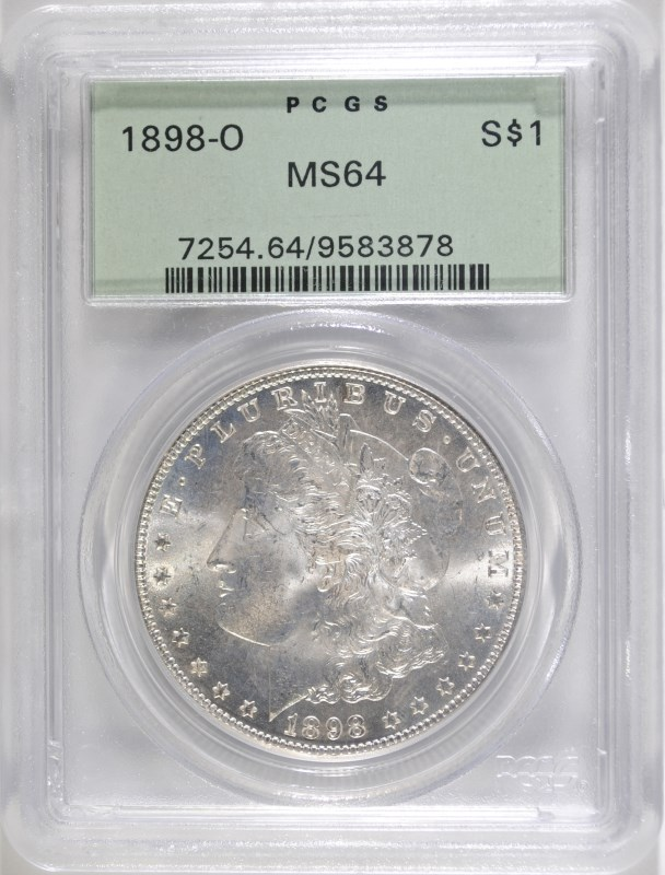 1898-O MORGAN DOLLAR PCGS MS-64 OLD GREEN HOLDER