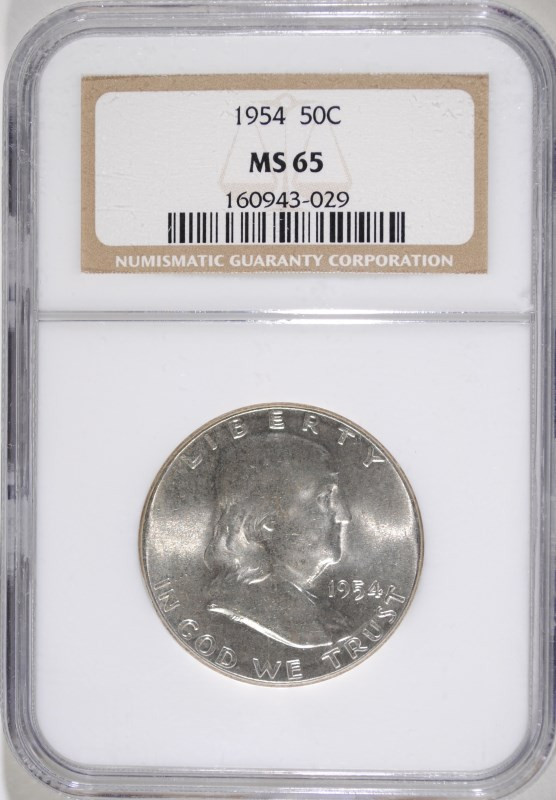 1954 FRANKLIN HALF NGC MS-65