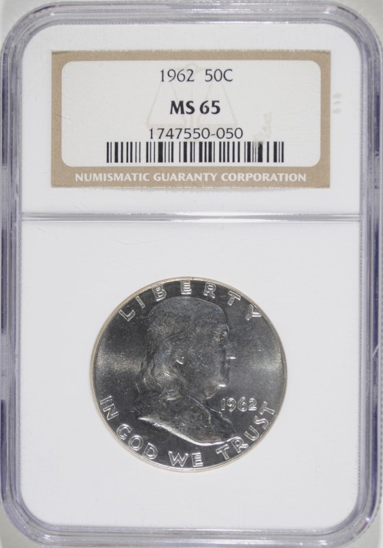 1962 FRANKLIN HALF NGC MS-65