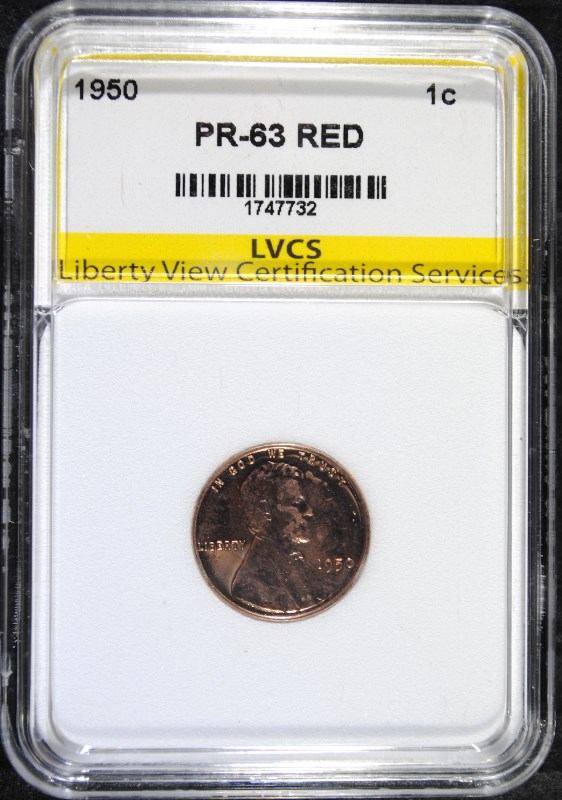 1950 LINCOLN CENT LVCS CHOICE PROOF RED
