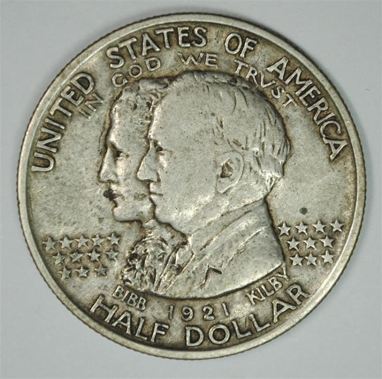 1921 ALABAMA COMMEMORATIVE HALF DOLLAR,  XF