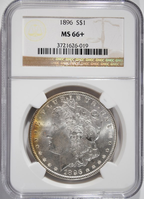 1896 MORGAN SILVER DOLLAR NGC MS66+ - BIG MONEY IN 67!
