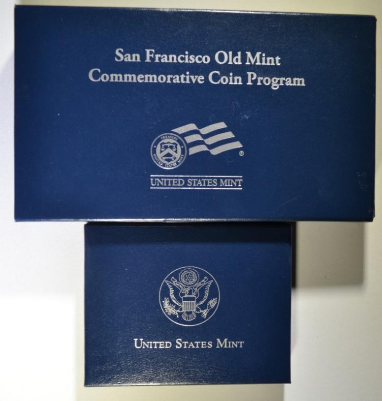 2 - 2006 COMMEM SETS; OLD SAN FRANCISCO MINT PRF $1 & BENJAMIN FRANKLIN UNC $1
