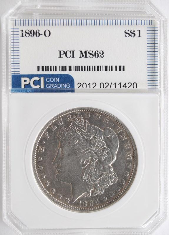 1896-O MORGAN SILVER DOLLAR PCI CH BU  RARE DATE!