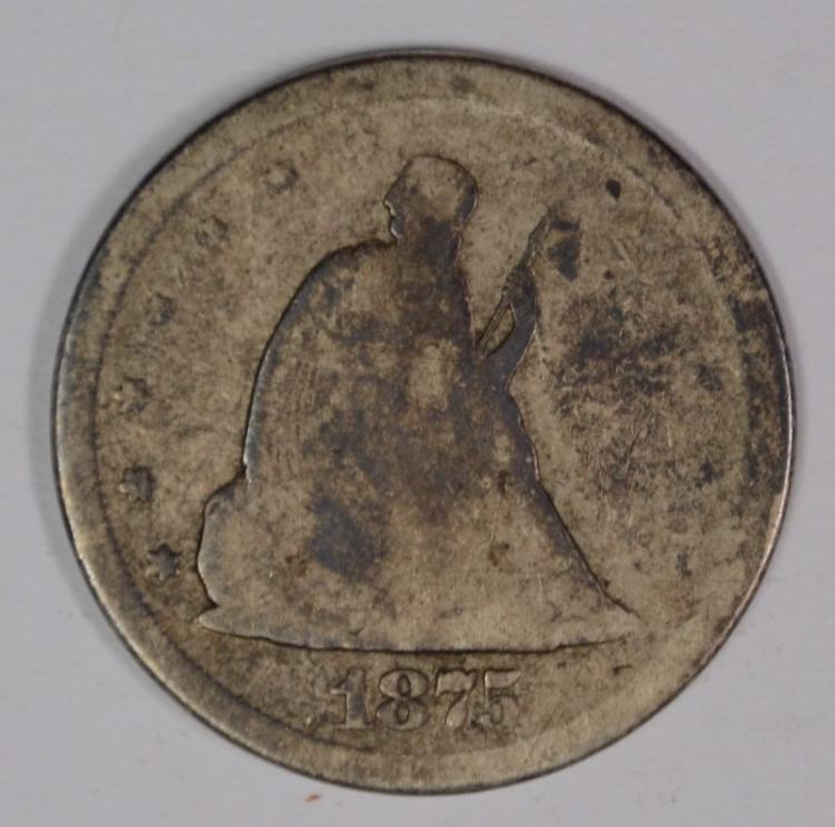1875-S 20-CENT PIECE, AG/GOOD
