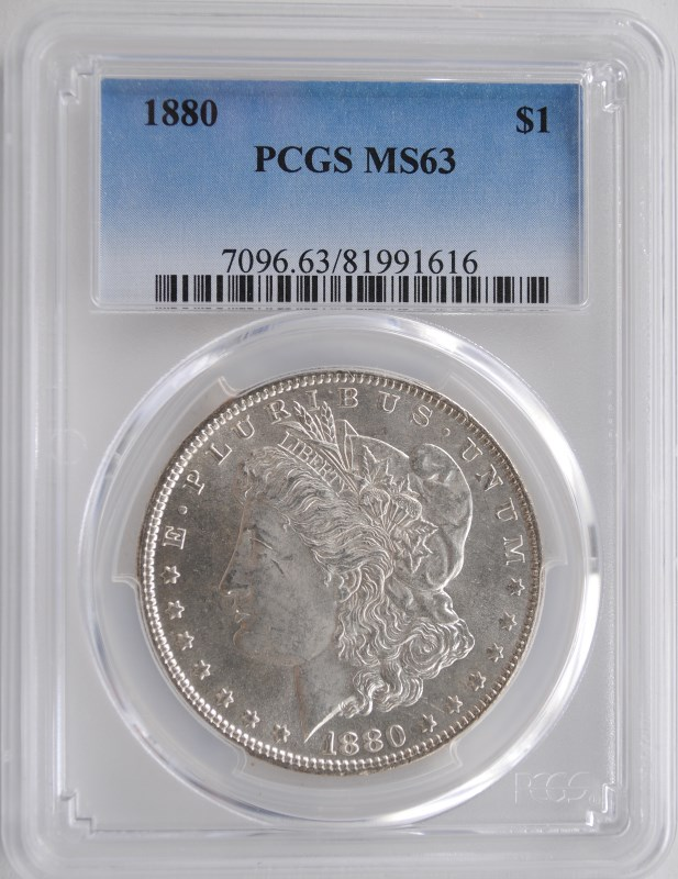 1880 MORGAN DOLLAR PCGS MS-63