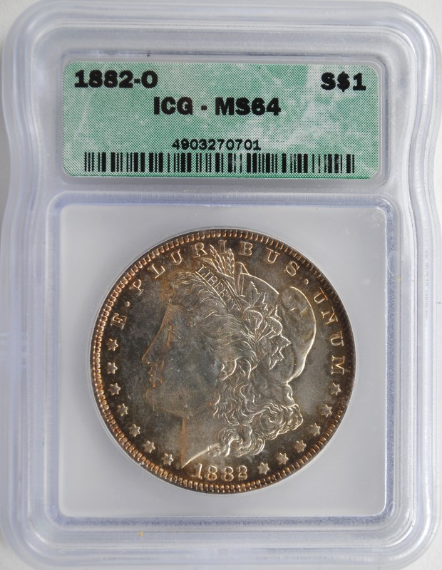 1882-O MORGAN DOLLAR ICG MS-64