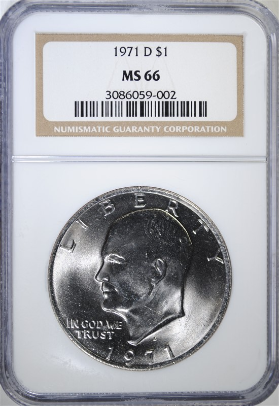 1971-D EISENHOWER DOLLAR, NGC MS-66