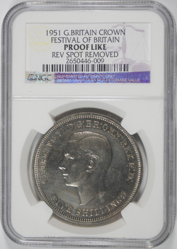 1951 G.BRITAIN CROWN, FESTIVAL OF BRITAIN, NGC PROOF LIKE
