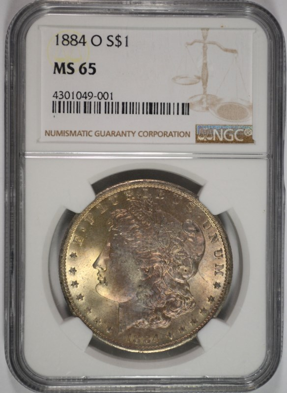 1884-O MORGAN DOLLAR NGC MS-65