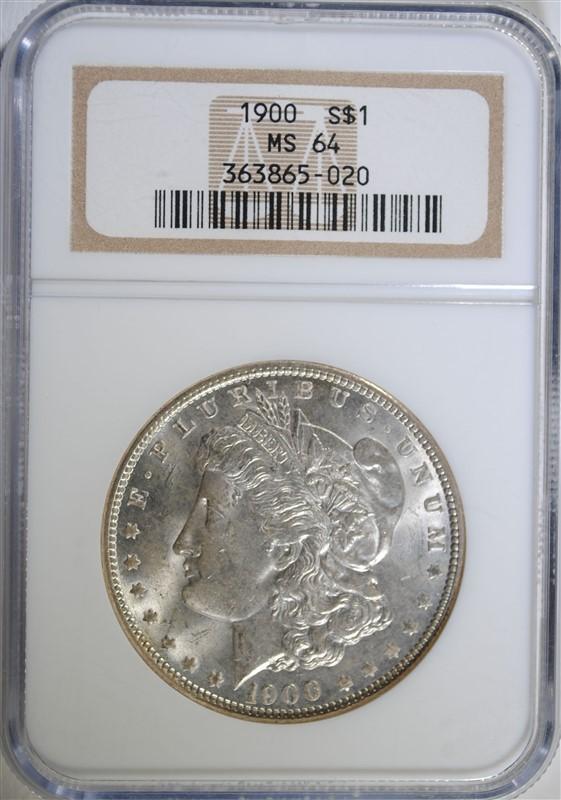 1900 MORGAN SILVER DOLLAR, NGC MS-64