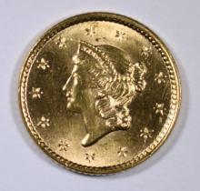1852 TYPE-1 GOLD DOLLAR, CHOICE BU+  NICE!