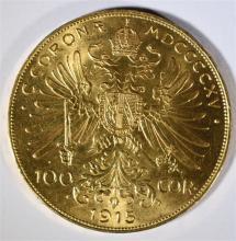 1915 100 C AUSTRIA BU 1oz .999 GOLD ! BEAUTIFUL