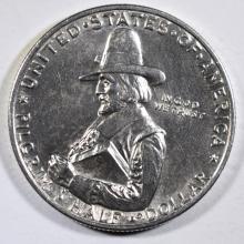 1920 PILGRIM COMMEMORATIVE HALF DOLLAR, CHOICE BU+