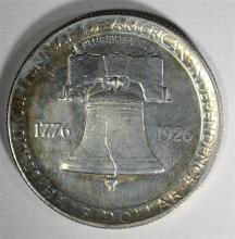 1926 SESQUICENTENNIAL COMMEMORATIVE HALF DOLLAR, AU/BU