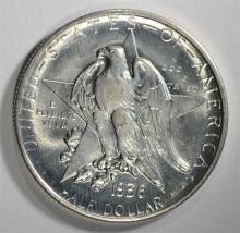 1936-S TEXAS COMMEMORATIVE HALF DOLLAR, GEM BU