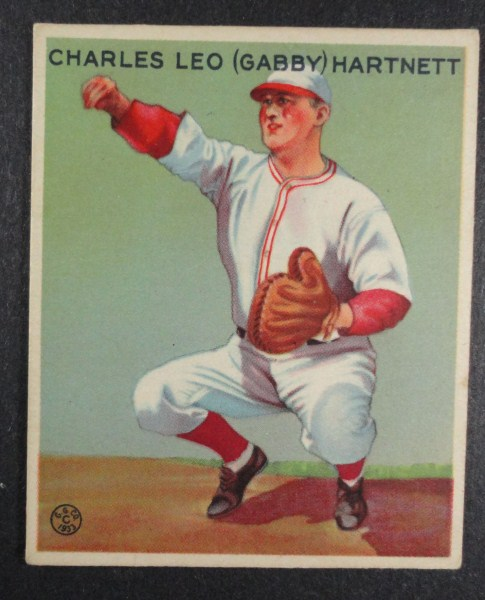 "1933 Goudey baseball card #202 ""GABBY"" HARTNETT EX+ Book value $400"