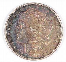 1879-O MORGAN DOLLAR AU (NICE TONING)