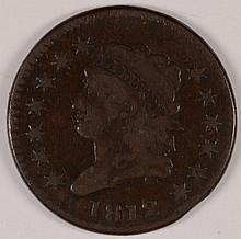 1812 LARGE CENT F/VF