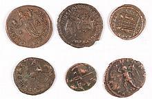 6 DIFFERENT HIGH GRADE ROMAN ANCIENT BRONZE, UNATTRIBUTED