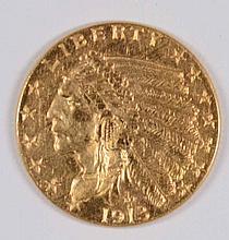 1913 $2.50 GOLD INDIAN CHOICE BU