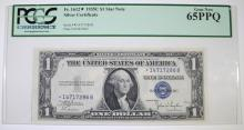 1935 C $1 SILVER CERTIFICATE FR. 1612 STAR NOTE PCGS 65 PPQ  SCARCE