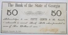 1861 FIFTY CENTS CIVIL WAR FULLY ISSUED SCARCE EARLY FRACTIONAL CURRENCY