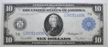 1914 $10 FEDERAL RESERVE NOTE #G76051493A (FR931A) CH.AU  NICE!
