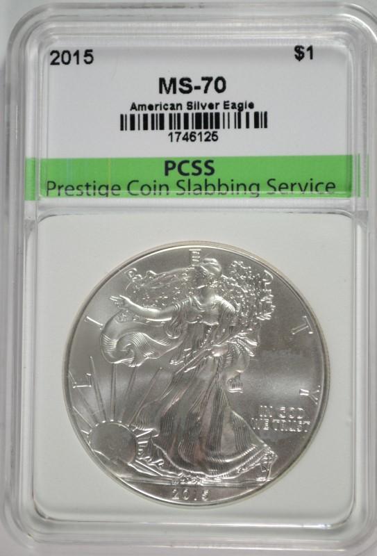 2015 Silver Eagle Gem BU.