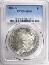 1883-S MORGAN DOLLAR PCGS MS60