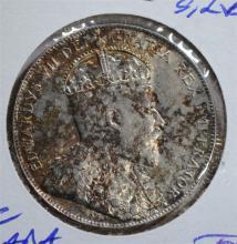 1909 SILVER 50 CENTS CANADA (NEWFOUNDLAND) BU