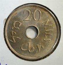 1935 20 MILS PALESTINE  CH.BU