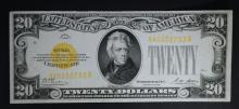 1928 $20 GOLD CERTIFICATE  CH.AU