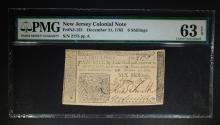 1763 6 SHILLINGS NEW JERSEY COLONIAL NOTE