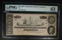 1864 $20 CONFEDERATE STATES OF AMERICA T-67