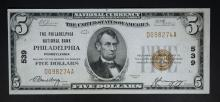 1929 TY. 1 $5 NATIONAL CURRENCY  CH.AU