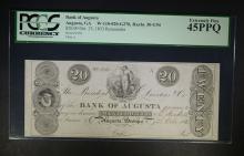 1833 $20 BANK OF AUGUSTA PCGS 45PPQ
