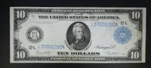 1914 $10 FEDERAL RESERVE NOTE  CH.AU