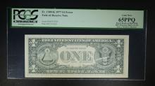 1977 $1 FEDERAL RESERVE NOTE PCGS 65PPQ