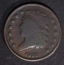 1835 HALF CENT, VG/FINE