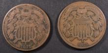 2-1871 2-CENT PIECES
