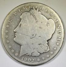 1902-S MORGAN DOLLAR, GOOD KEY COIN
