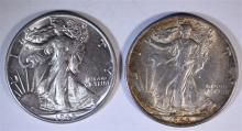 1 - 1945-S & 1-1945 WALKING LIBERTY HALF DOLLARS