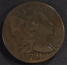 1794 LARGE CENT HEAD OF 1794 STRONG VF+