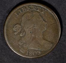 1803 LARGE CENT, FINE/VF  NICE!