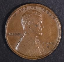 1909-S VDB LINCOLN CENT CHOICE AU BROWN,