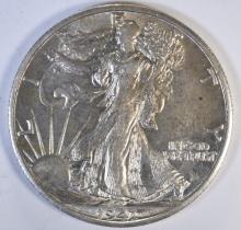 1941-S WALKING LIBERTY HALF, CH BU