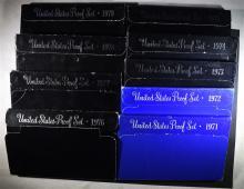 1971-79 U.S. PROOF SETS IN ORIG PACKAGING
