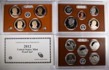 2012 U.S. PROOF SET IN ORG BOX/COA